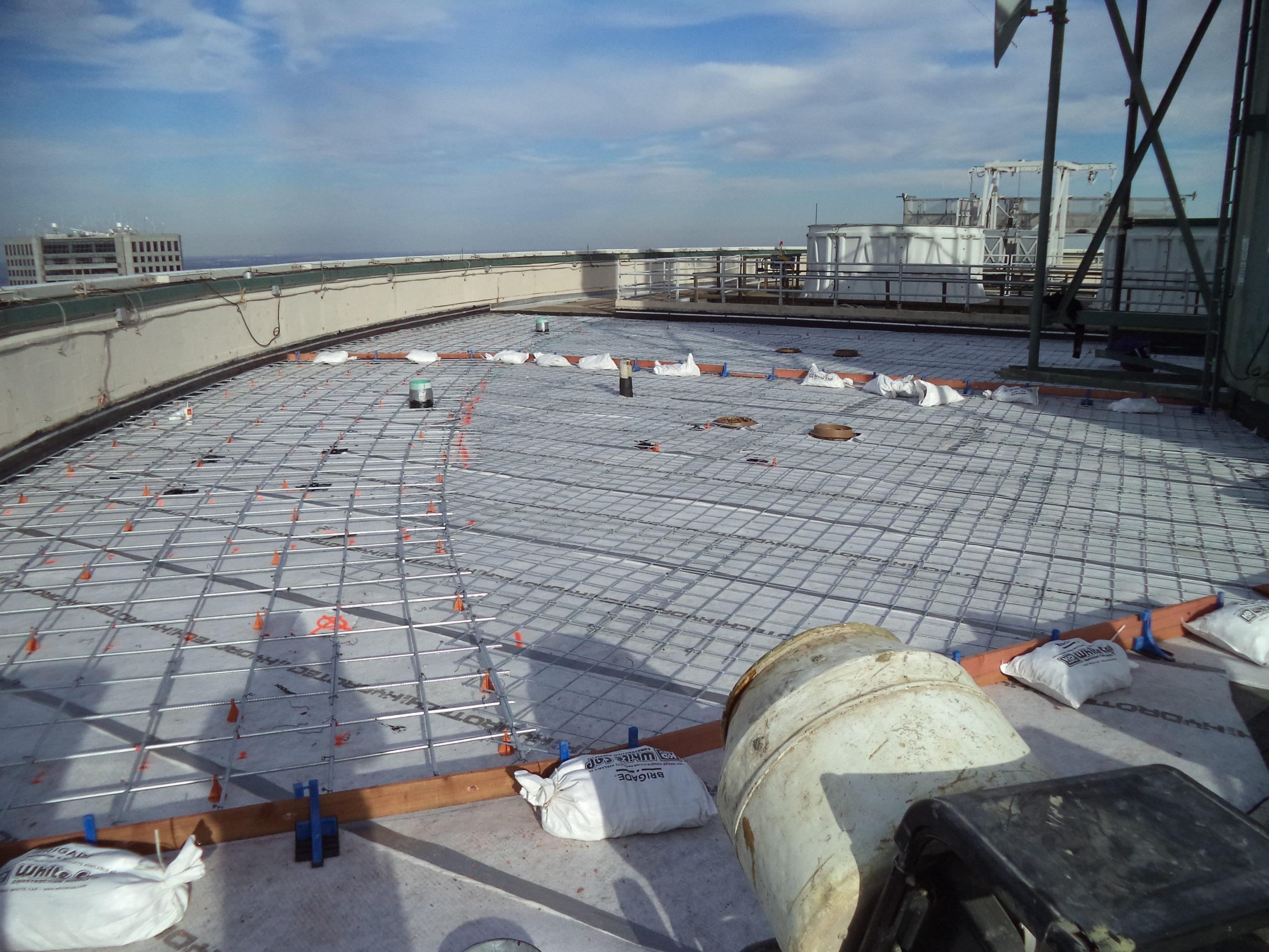 Prep for new concrete